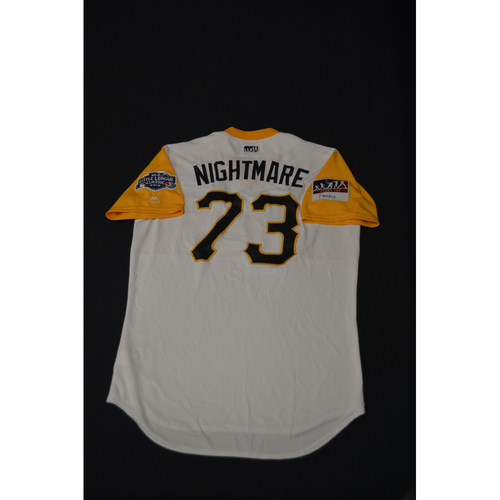 "Photo of 2019 Little League Classic - Game Used Jersey - Felipe ""Nightmare"" Vazquez,  Chicago Cubs at Pittsburgh Pirates - 8/18/2019 (Size - 46)"