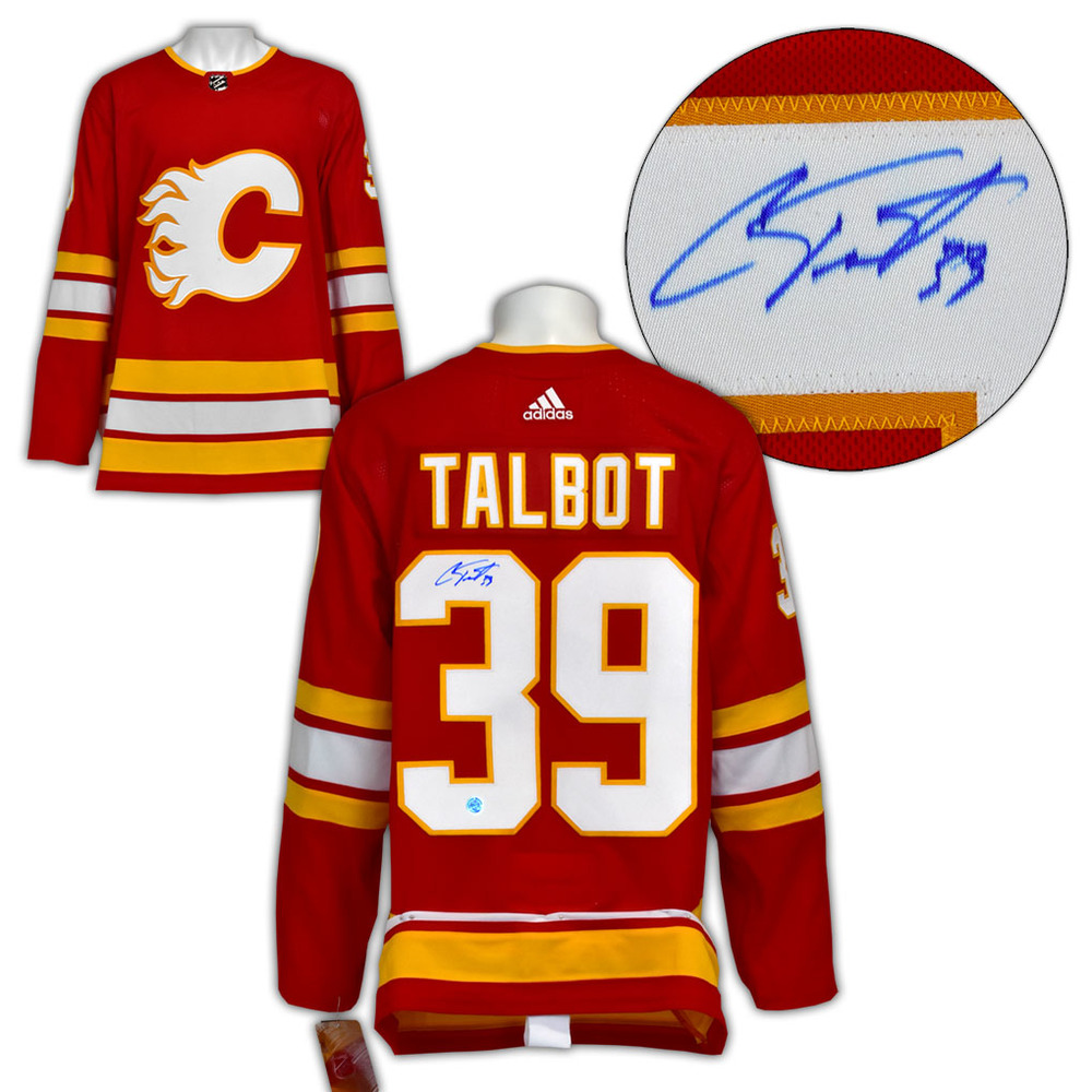 Cam Talbot Calgary Flames Autographed Alternate Adidas Authentic Hockey Jersey
