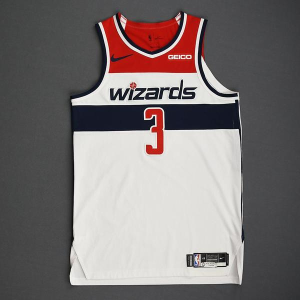 Image of Bradley Beal - Washington Wizards - Kia NBA Tip-Off 2019 - Game-Worn Association Edition Jersey