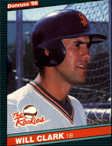 Photo of 1986 Donruss Rookies #32 Will Clark XRC