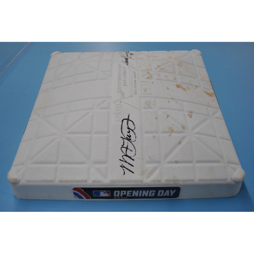 MLB Opening Day Auction Supporting The Players Alliance - Game-Used and Autographed Base - 3rd base Innings 1-3 - Michael A. Taylor and Howie Kendrick