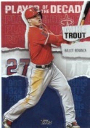 Photo of 2020 Topps Player of the Decade Mike Trout #MT15 Mike Trout