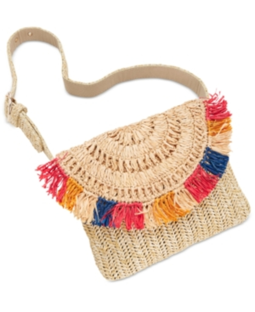Photo of I.n.c. Straw Fringe Belt Bag