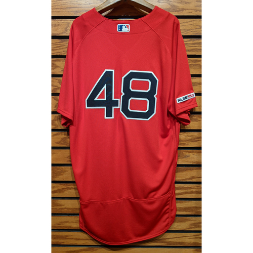 Photo of Andrew Cashner #48 Red Home Alternate Team Issued Jersey