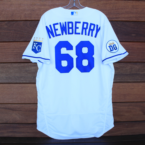 Photo of Game-Used 2020 Los Reales Jersey: Jake Newberry #68 (PIT @ KC 9/12/20) - Size 44
