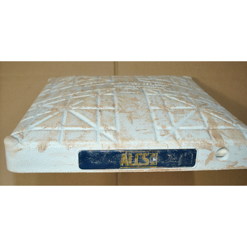 Photo of Game-Used Base - 2020 ALCS Game 6 - Houston Astros vs. Tampa Bay Rays - 2nd Base Innings 1-5