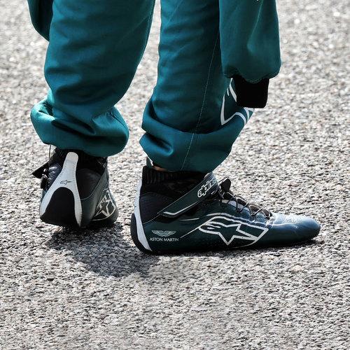 Photo of Sebastian Vettel 2021 Signed Race Used Race Boots - US GP
