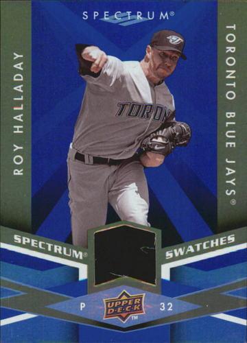 Photo of 2009 Upper Deck Spectrum Spectrum Swatches Blue #SSRH Roy Halladay