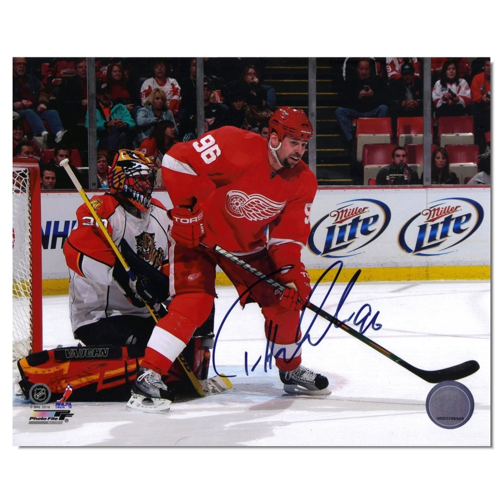 Tomas Holmstrom Autographed Detroit Red Wings 8x10 Photo