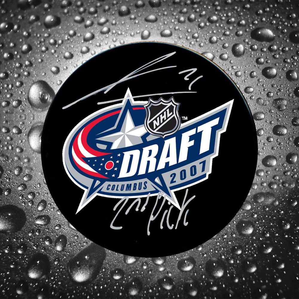 James Van Riemsdyk 2nd Pick 2007 NHL Draft Day Autographed Puck