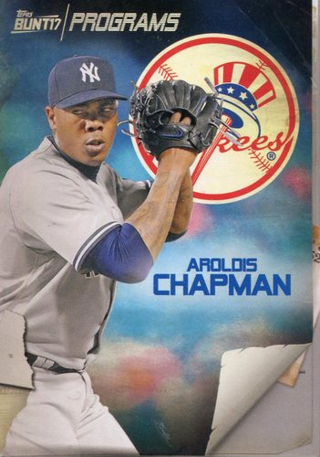 Photo of 2017 Topps Bunt Programs #PRAC Aroldis Chapman