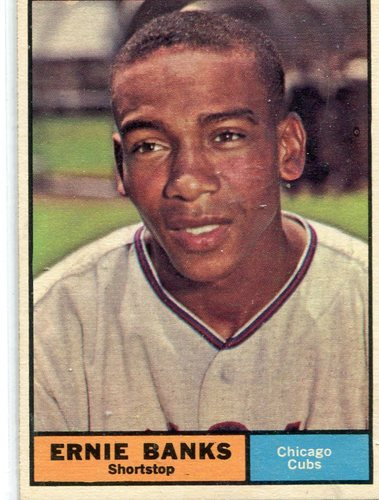 Photo of 1961 Topps #350 Ernie Banks -- Hall of Famer