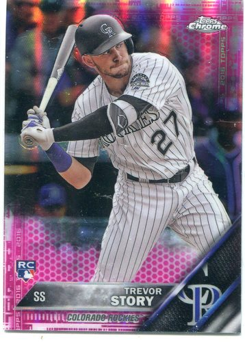Photo of 2016 Topps Chrome Pink Refractors #45 Trevor Story