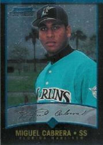 Photo of 2001 Bowman Chrome #259 Miguel Cabrera UER/Denny Bautista pictured