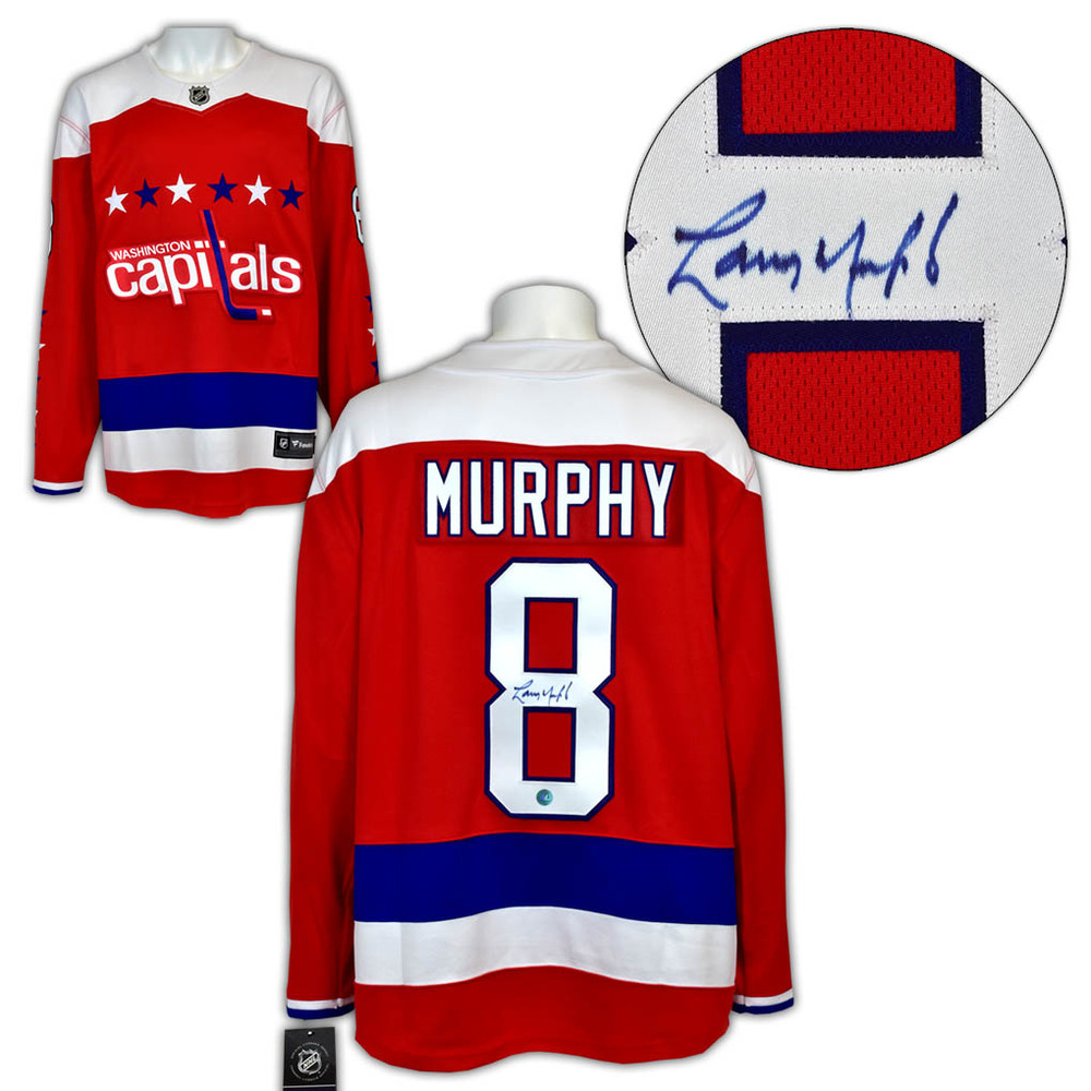 Larry Murphy Washington Capitals Autographed Retro Alt Fanatics Hockey Jersey