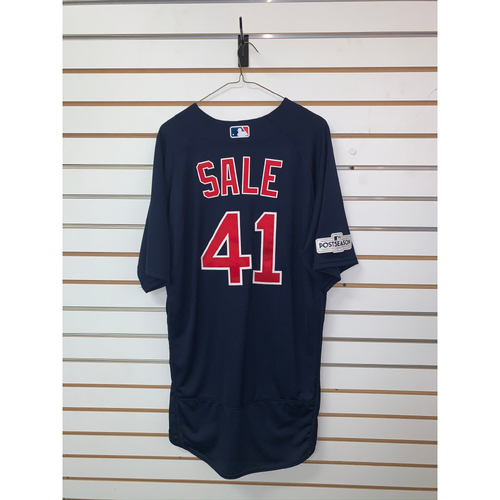 Photo of Chris Sale Team Issued 2017 Postseason Road Alternate Jersey