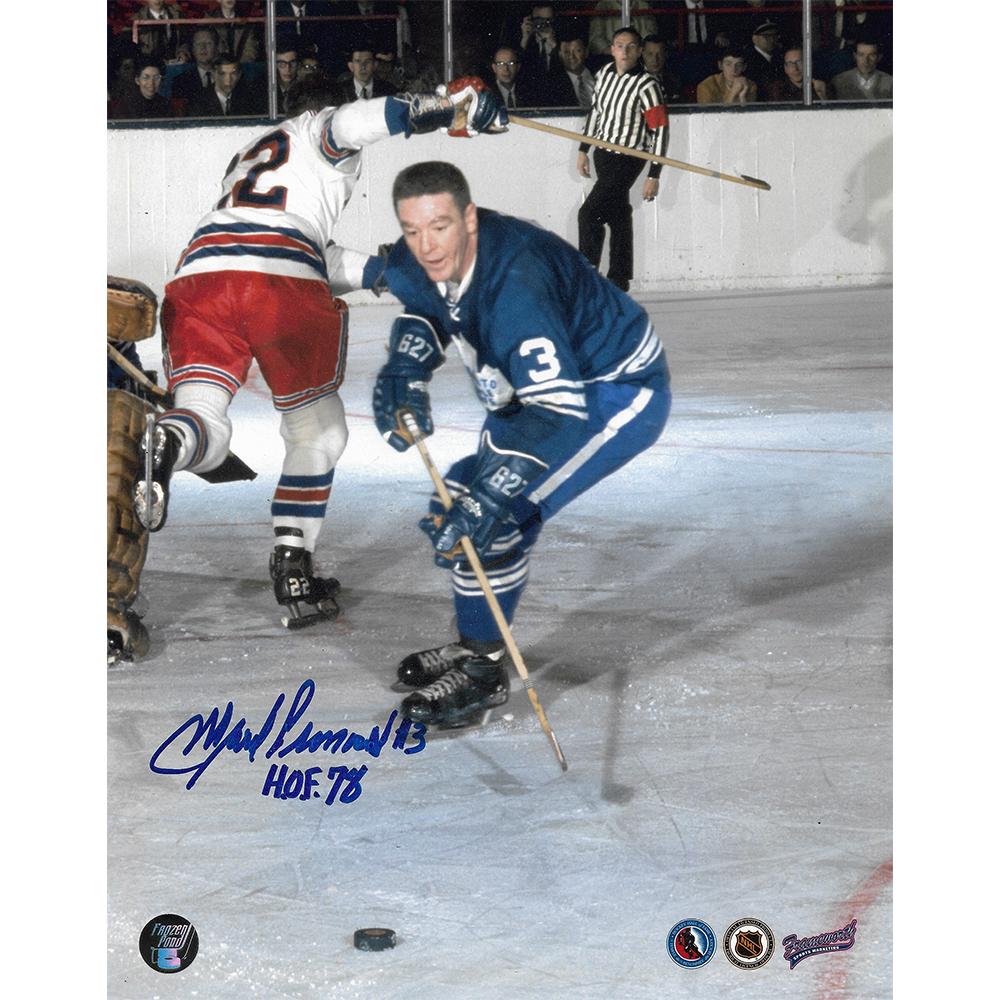 Marcel Pronovost Autographed Toronto Maple Leafs 8X10 Photo w/HOF 78 Inscription