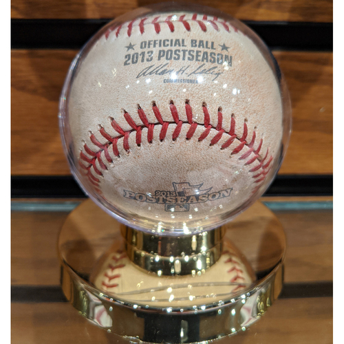 Photo of 2013 ALCS Game 6 Detroit Tigers at Boston Red Sox Game Used Baseball