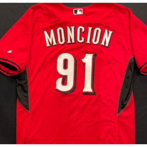 Photo of MONCION -- Authentic Reds Jersey -- $1 Jersey Auction -- $5 Shipping -- Size 48 (Not MLB Authenticated)