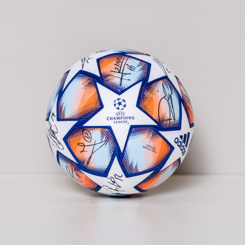 Photo of 20/21 Champions League Ball signed by the Club de Atletico Madrid Team
