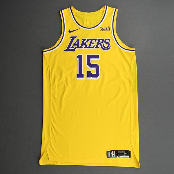 Image of Montrezl Harrell - Los Angeles Lakers - Kia NBA Tip-Off 2020 - Game-Worn Icon Edition Jersey - Lakers' Debut - Recorded a Double-Double