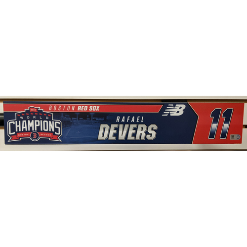 Photo of Rafael Devers #11 Team Issued Locker Tag