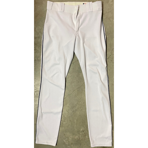Photo of Team Issued Home White Pants: Brandon Guyer - 2016