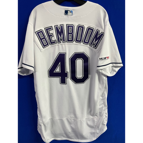 Photo of Game Used Devil Rays Jersey: Anthony Bemboom - Rookie Season - May 11, 2019 v NYY