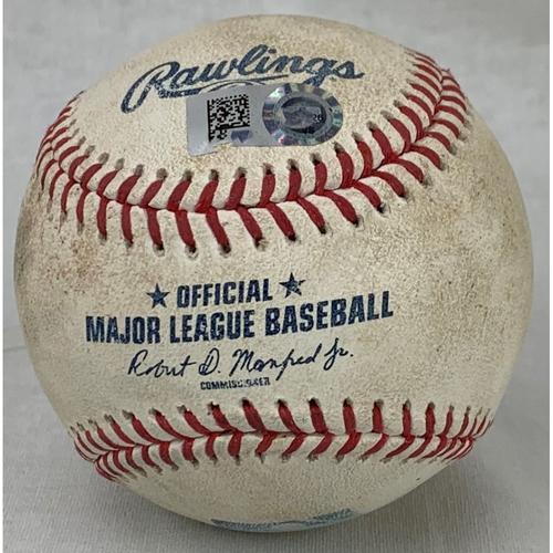 Photo of 2021 Game-Used Baseball - Pitcher: Gerrit Cole, Batter: Yuli Gurriel - Strikeout - Bottom 4 - 7/10/21