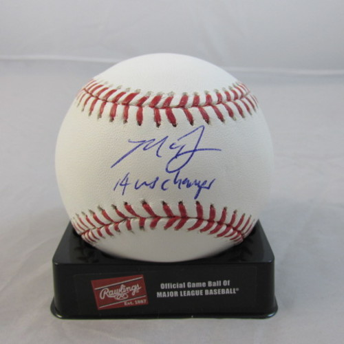 "Photo of Madison Bumgarner Autographed ""14 WS Champs"" Baseball"