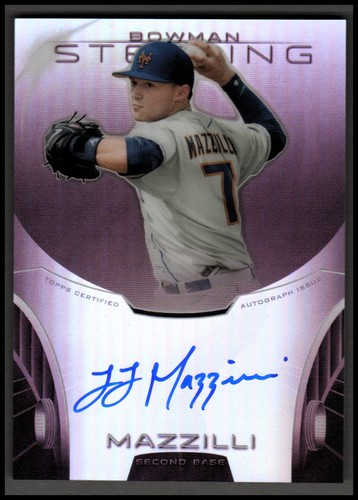 Photo of 2013 Bowman Sterling Prospect Autographs Ruby Refractors #LM L.J. Mazzilli