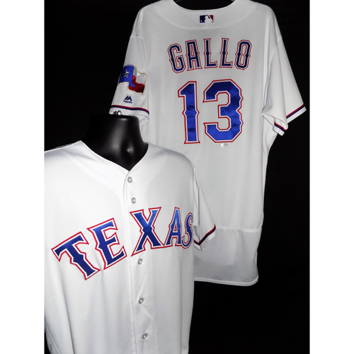 Photo of 2017 Joey Gallo White Game-Used Jersey