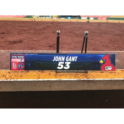 Photo of Cardinals Authentics: John Gant Team-Issued Spring Training Locker Tag