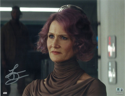 Laura Dern as Vice Admiral Holdo 11x14 Autographed in Silver Ink Photo