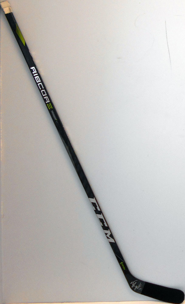 #64 Tyler Motte  Game Used Stick - Autographed - Vancouver Canucks