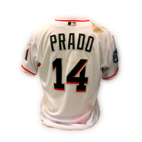 Photo of Game-Used Jersey: Martin Prado - Size 44 - 5/15/18 vs Dodgers