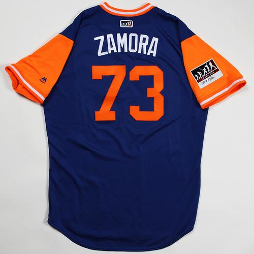"Photo of Daniel ""Zamora"" Zamora New York Mets Game-Used Jersey 2018 Players' Weekend Jersey"