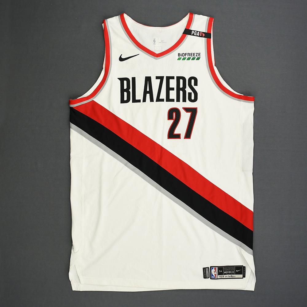 Jusuf Nurkic - Portland Trail Blazers - Kia NBA Tip-Off 2018 - Game-Worn Association Edition Jersey