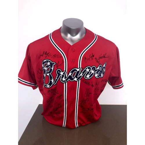 Photo of 2018 Atlanta Braves Team Autographed Jersey