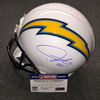 California Wildfire Relief - Chargers LaDainian Tomlinson signed Chargers proline helmet