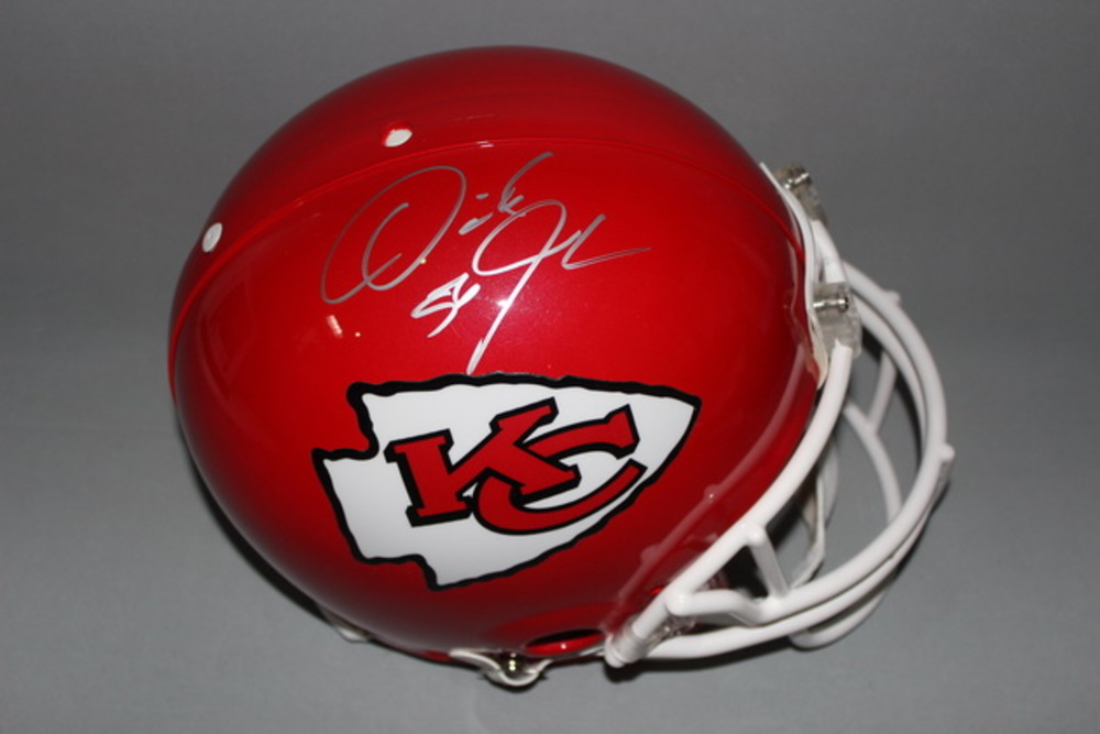 NFL - CHIEFS DERRICK JOHNSON SIGNED CHIEFS PROLINE HELMET