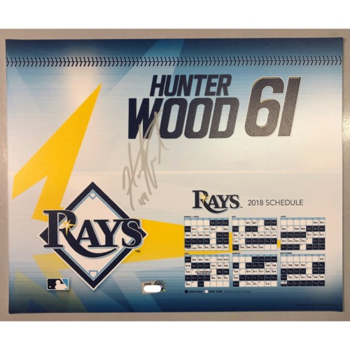 Photo of Game-Used Autographed Locker Tag: Hunter Wood