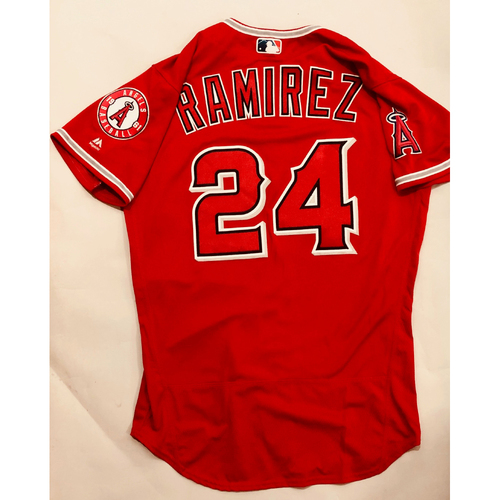 Photo of 2019 Mexico Series - Game-Used Jersey - Noe Ramirez, Houston Astros at Los Angeles Angels - 5/4/19