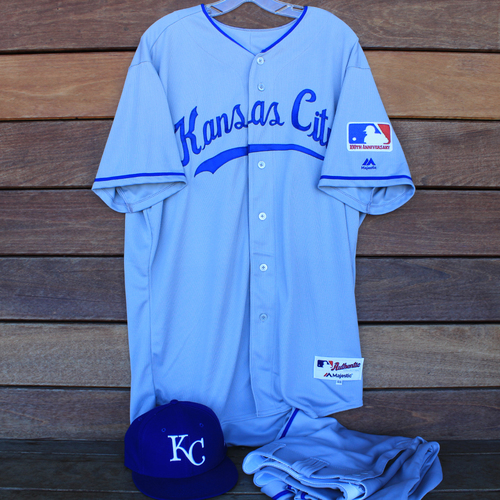 Photo of Game-Used 1969 Throwback Jersey, Pants and Cap: Jake Newberry (Jersey Size 48 - KC @ WSH  - 7/6/19)