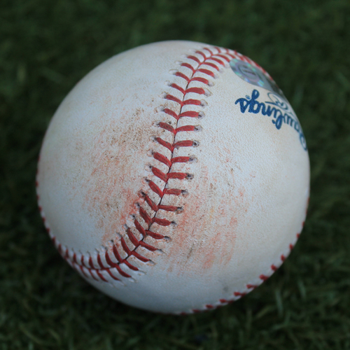 Photo of Game-Used Baseball: Seth Brown 5th Career Hit and 3rd Career RBI & Jurickson Profar 359th Career Hit (OAK @ KC - 8/29/19)