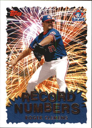 Photo of 1999 Topps Record Numbers #RN8 Roger Clemens