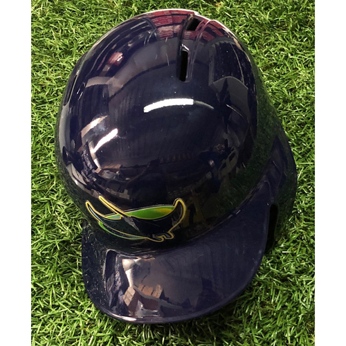 Photo of 2019 Game Used Devil Rays Helmet (size 7 1/4): Christian Arroyo 2-R HOME RUN - June 2, 2019 v MIN