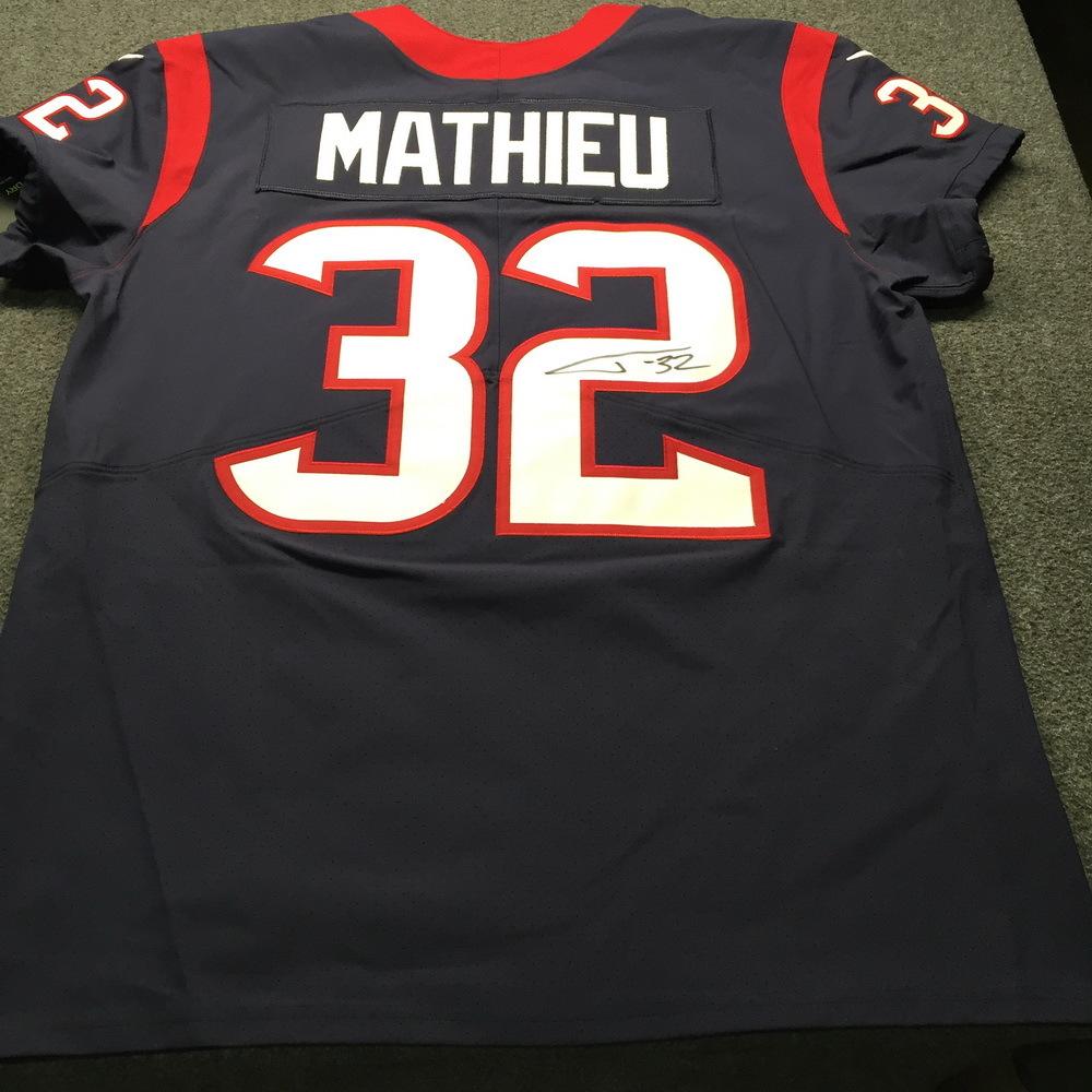 NFL Auction   Texans - Tyrann Mathieu Signed Jersey Size 48