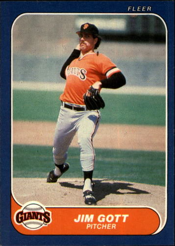 Photo of 1986 Fleer #542 Jim Gott