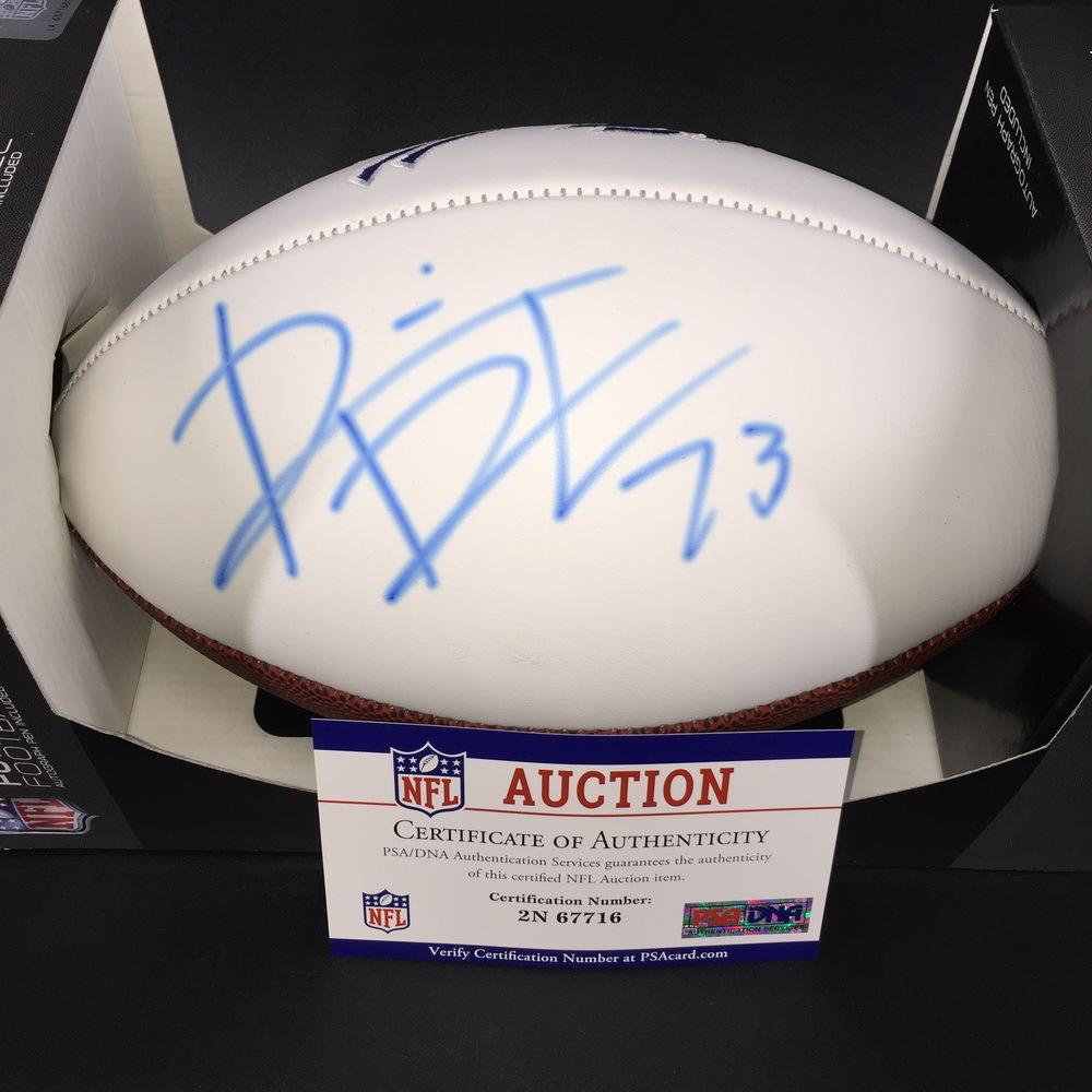 Bills - Dion Dawkins Signed Panel Ball W/ Bills Logo